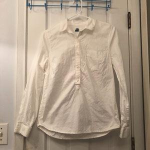 White Loose Button Down Blouse!
